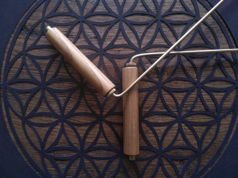 baguettes de sourcier parallele avec poignées en bois