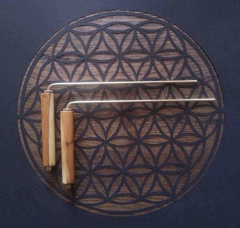 baguettes géobiologie courte en bois sur mesure
