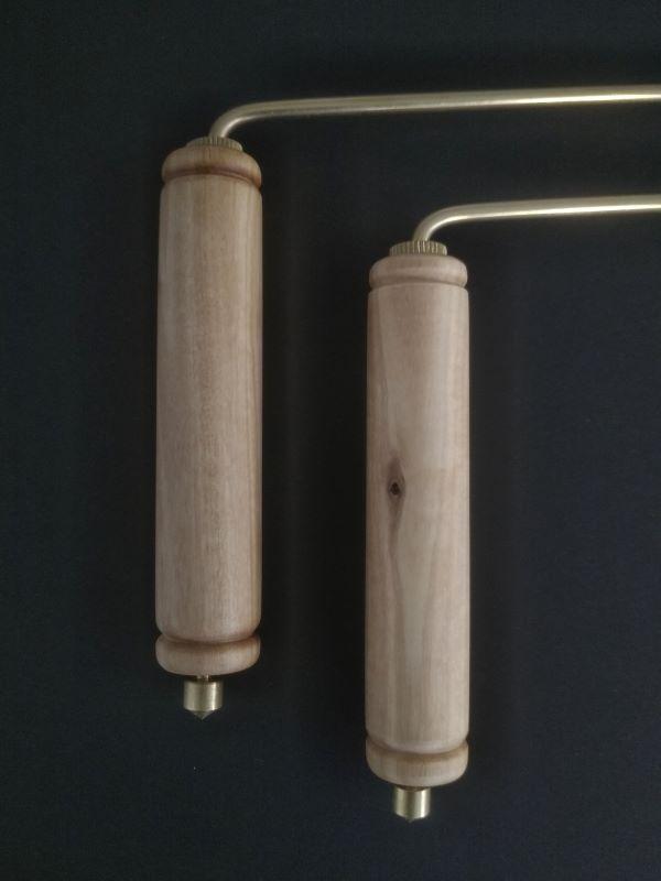 rad master sur mesure avec poignées en bois d'olivier pour geobiologie